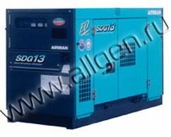 Дизель генератор Airman SDG13S  мощностью 12 кВА (9 кВт) в шумозащитном кожухе