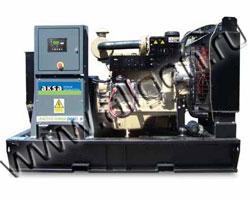 Дизель электростанция AKSA APD-12A мощностью 12 кВА (9 кВт) на раме