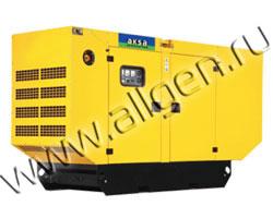Дизель генератор AKSA APD-90A мощностью 90 кВА (72 кВт) в шумозащитном кожухе