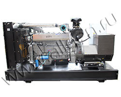 Дизельный генератор АМПЕРОС АД60-Т400 мощностью 82 кВА (66 кВт) на раме