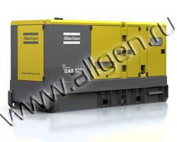 Дизель генератор Atlas Copco QAS 325 мощностью 361 кВА (289 кВт) в шумозащитном кожухе