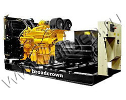Дизель электростанция Broadcrown BCC 550-50 E2 мощностью 550 кВА (440 кВт) на раме