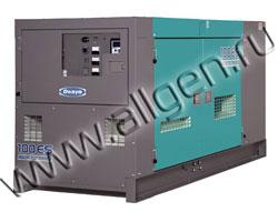 Дизель генератор Denyo DCA-100ESI  мощностью 88 кВА (70 кВт) в шумозащитном кожухе