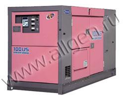 Дизель генератор Denyo DCA-100USI мощностью 88 кВА (70 кВт) в шумозащитном кожухе
