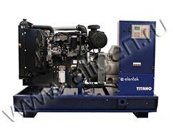 Дизель электростанция Elentek TITANO SKID 33 DO мощностью 33 кВА (26 кВт) на раме