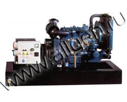 Дизель электростанция EuroPower EP32DE/EPS32DE мощностью 32 кВА (26 кВт) на раме