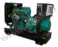 Дизель электростанция FLAGMAN АД24-Т400-1Р/1РП мощностью 33 кВА (26 кВт) на раме