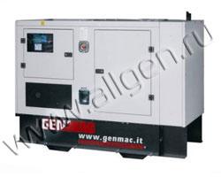 Дизель генератор Genmac G30IOM (ISM) мощностью 33 кВА (26 кВт) в шумозащитном кожухе