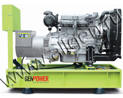 Дизель электростанция GenPower GNT 33  мощностью 33 кВА (26 кВт) на раме