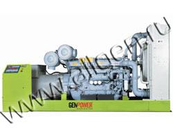 Дизель электростанция GenPower GPR 550 мощностью 550 кВА (440 кВт) на раме