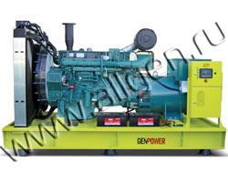 Дизель электростанция GenPower GVP 559 мощностью 559 кВА (447 кВт) на раме