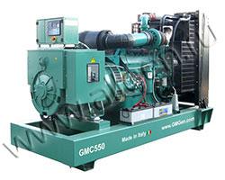 Дизель электростанция GMGen GMC550 мощностью 550 кВА (440 кВт) на раме