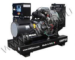 Дизель электростанция GMGen GMP50 мощностью 50 кВА (40 кВт) на раме