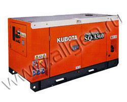 Дизель генератор Kubota SQ-3300 мощностью 33 кВА (26 кВт) в шумозащитном кожухе