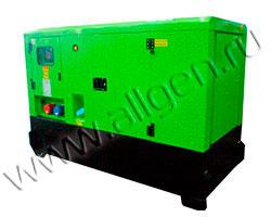 Дизель генератор MingPowers M-Y33 мощностью 33 кВА (26 кВт) в шумозащитном кожухе