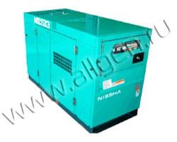 Дизель генератор Nippon Sharyo NES13EK-3 мощностью 12 кВА (9 кВт) в шумозащитном кожухе