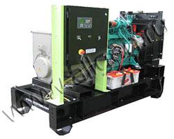 Дизель электростанция Pramac GSW90V мощностью 91 кВА (73 кВт) на раме
