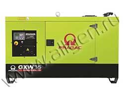 Дизель генератор Pramac GXW35W мощностью 33 кВА (26 кВт) в шумозащитном кожухе