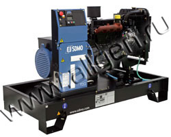 Дизель электростанция SDMO K33 мощностью 33 кВА (26 кВт) на раме