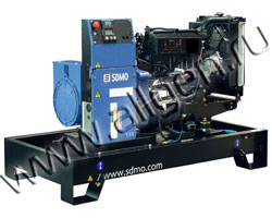 Дизель электростанция SDMO T33K мощностью 33 кВА (26 кВт) на раме