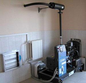 Основные рекомендации по установке электростанции в помещении