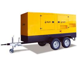 Передвижной генератор на шасси