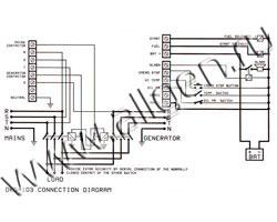 Схема подключения панеля управления DATAKOM DKG-103