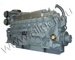 Дизельный двигатель Mitsubishi S16R-PTA мощностью 1620 кВт