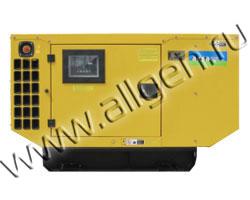 Дизель генератор AKSA APD-40A мощностью 40 кВА (32 кВт) в шумозащитном кожухе