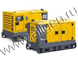 Дизель генератор Atlas Copco QAS 14 мощностью 14 кВА (11 кВт) в шумозащитном кожухе