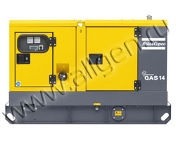 Дизельный генератор Atlas Copco QAS 14 FLX мощностью 12 кВт