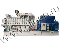 Дизель генератор CTM MT.2800 мощностью 3111 кВА (2489 кВт) на раме