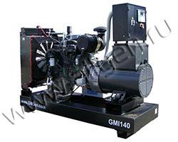 Дизель электростанция GMGen GMI140 мощностью 140 кВА (112 кВт) на раме