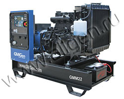 Дизель электростанция GMGen GMM22 мощностью 23 кВА (19 кВт) на раме