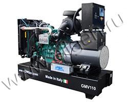 Дизель электростанция GMGen GMV110 мощностью 110 кВА (88 кВт) на раме