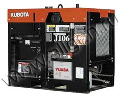 Дизельный генератор Kubota J106 на раме