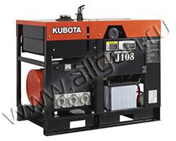 Дизельный генератор Kubota J108 на раме