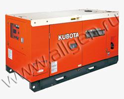 Дизельный генератор Kubota SQ-1120 мощностью 9 кВт