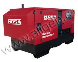Дизель генератор MOSA GE 55 PSX мощностью 51 кВА (41 кВт) в шумозащитном кожухе