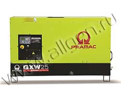 Дизель генератор Pramac GXW25W мощностью 24 кВА (19 кВт) в шумозащитном кожухе
