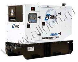 Дизельный генератор SDMO R66 (Франция) мощностью 66 кВА (53 кВт) с наработкой (б/у)