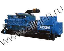 Дизель генератор SDMO X3100C мощностью 3100 кВА (2480 кВт) на раме