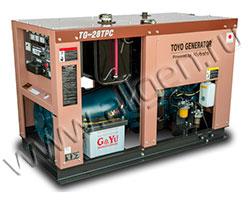 Дизельный генератор TOYO TG-28TPC/TBS мощностью 18 кВт