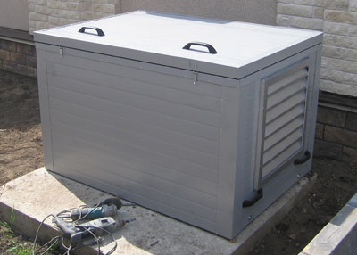Утеплённый малошумный миниконтейнер для генератора