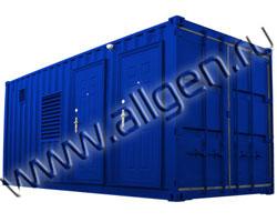 Дизельный генератор CTM MT.2800 мощностью 3111 кВА (2489 кВт) в контейнере