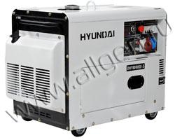 Портативный генератор Hyundai DHY 8000SE-3 мощностью 6 кВт)