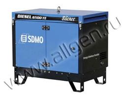 Портативный генератор SDMO DIESEL 6500 TE SILENCE мощностью 6.5 кВт)