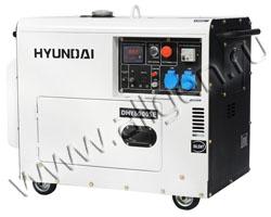 Портативный генератор Hyundai DHY 6000SE мощностью 5.5 кВт)