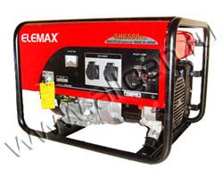 Портативный генератор Elemax SH 6500EX-R мощностью 5.8 кВт)