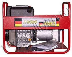 Портативный генератор AMG D 6000 мощностью 5.5 кВт)